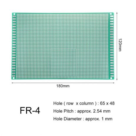 12 x 18 cm Universal PCB Prototype Board Single-Sided 2.54mm Hole Pitch