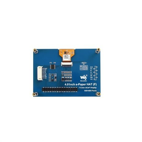 Waveshare 4.01inch 640×400 Pixels ACeP 7-Color E-Paper E-Ink Display HAT for Raspberry Pi