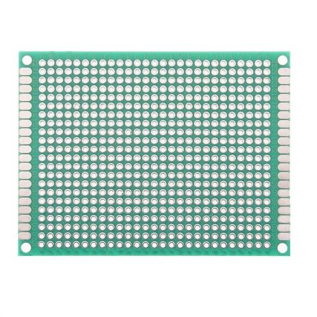 6 x 8 cm Universal PCB Prototype Board Single-Sided 2.54mm Hole Pitch