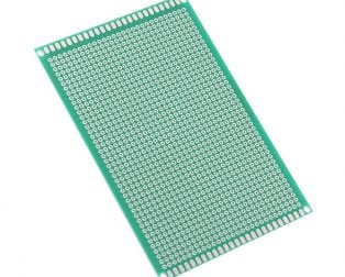 8 x 12 cm Universal PCB Prototype Board Single-Sided 2.54mm Hole Pitch