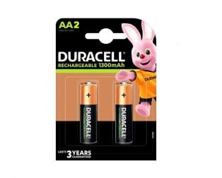 Duracell Rechargeable Batteries AA 1300mAh (Pack of 2)
