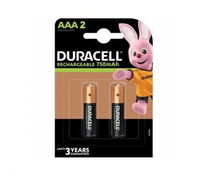 Duracell Rechargeable Batteries AAA 750mAh (Pack of 2)