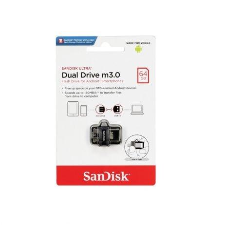 SanDisk Ultra Dual Drive m3.0 64GB Black