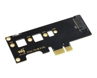 Waveshare PCIe TO M.2 Adapter, Supports Raspberry Pi Compute Module 4