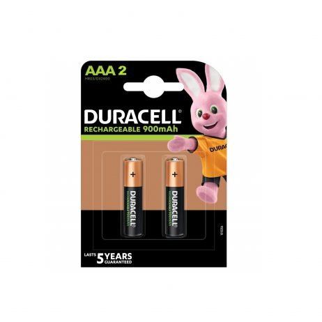 Duracell Rechargeable Batteries AAA 900mAh (Pack of 2)