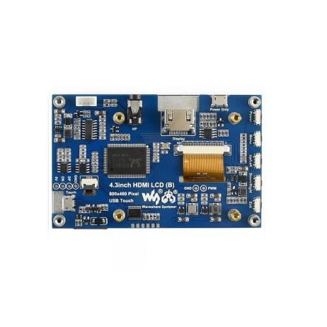 Waveshare 4.3inch Capacitive Touch Screen LCD (B), 800×480, HDMI, IPS, Various Devices & Systems Support