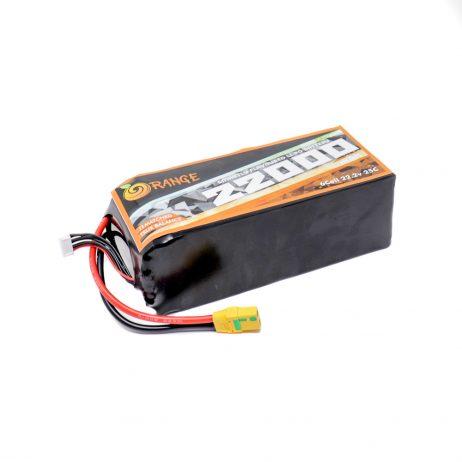 Orange 22000mah 6S 25C (22.2V) Lithium Polymer Battery Pack (Lipo)
