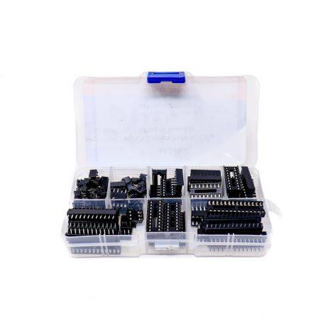 ORANGE 66PCS 2.54mm Pitch IC Chip Plug-in Base Kit