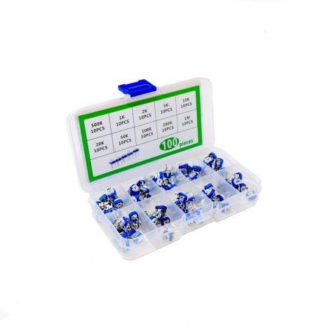 ORANGE 100PCS RM065 Variable Resistors Kit