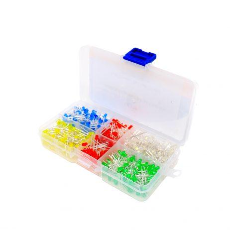 ORANGE 100PCS 5 Colors F3mm LED Kit
