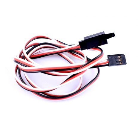 SafeConnect Flat 45 CM 22AWG Servo Lead Extension (Futaba) Cable with Self-Locking Hook