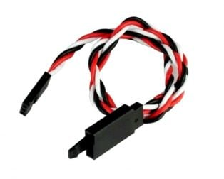 SafeConnect Twisted 15CM 22AWG Servo Lead Extension (Futaba) Cable with Self-locking Hook