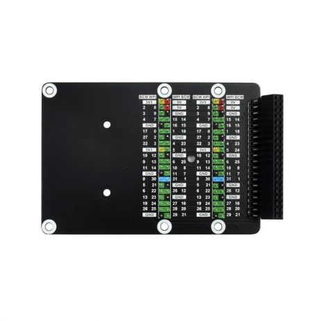 Waveshare Raspberry Pi 400 GPIO Header Adapter, 2x 40PIN Header Expansion, Leaning Version