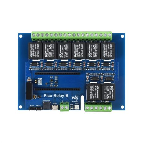 Waveshare Industrial 8-Channel Relay Module for Raspberry Pi Pico, Multi Protection
