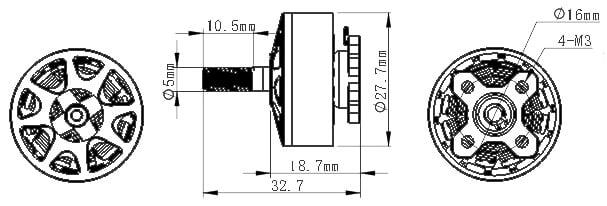 SUNFUN D2207 2750Kv BLDC Motor