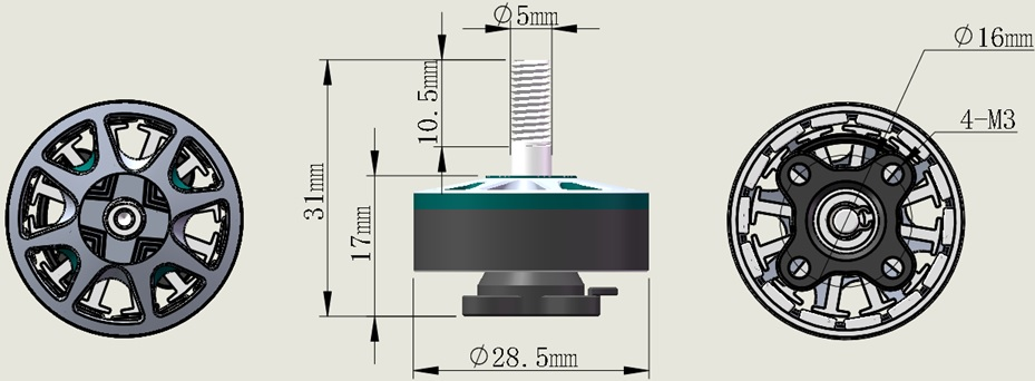 SUNFUN D2306 1900Kv BLDC Motor