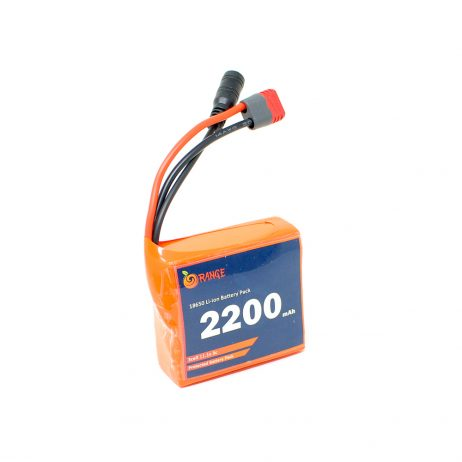 Orange 18650 Li-ion 2200mAh 11.1v 3S1P Protected Battery Pack-3c