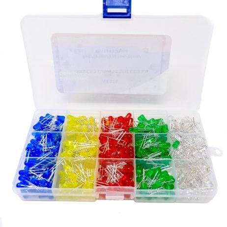 ORANGE 500PCS 5 Colors F5 MM LED Kit