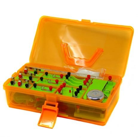 Orange EUDAX School Physics Labs Basic Electricity Discovery Circuit and Magnetism Experiment Kit