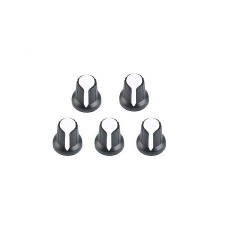 Potentiometer Knob Rotary Switch Cap White Color- Pack of 5 Pcs.
