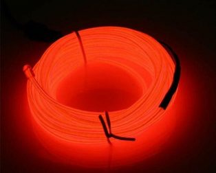 5M Neon Light Dance Party Decor Light Neon LED Lamp Flexible EL Wire Rope Tube Waterproof LED Strip - Only EL Wire -RED