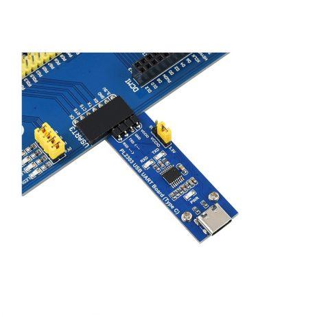 Waveshare PL2303 USB UART Board (Type C), USB To UART (TTL) Communication Module, USB-C Connector